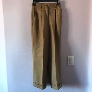 Vintage tan Marconi wool high waisted trousers